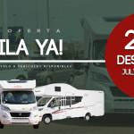 #VeranoLuxe: Alquila una autocaravana en Julio y Agosto con 20% de descuento