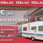 Llegan las REBAJAS a Luxecaravaning: 1000€ de descuento en vehículos de ocasión y hasta 3.000€ en accesorios en vehículos nuevos