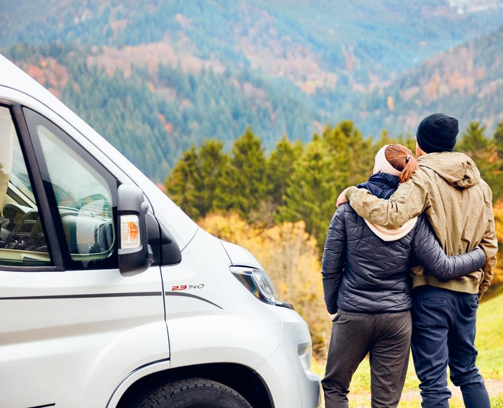 Una ventaja del teletrabajo es la posibilidad de viajar mientras trabajas en autocaravana