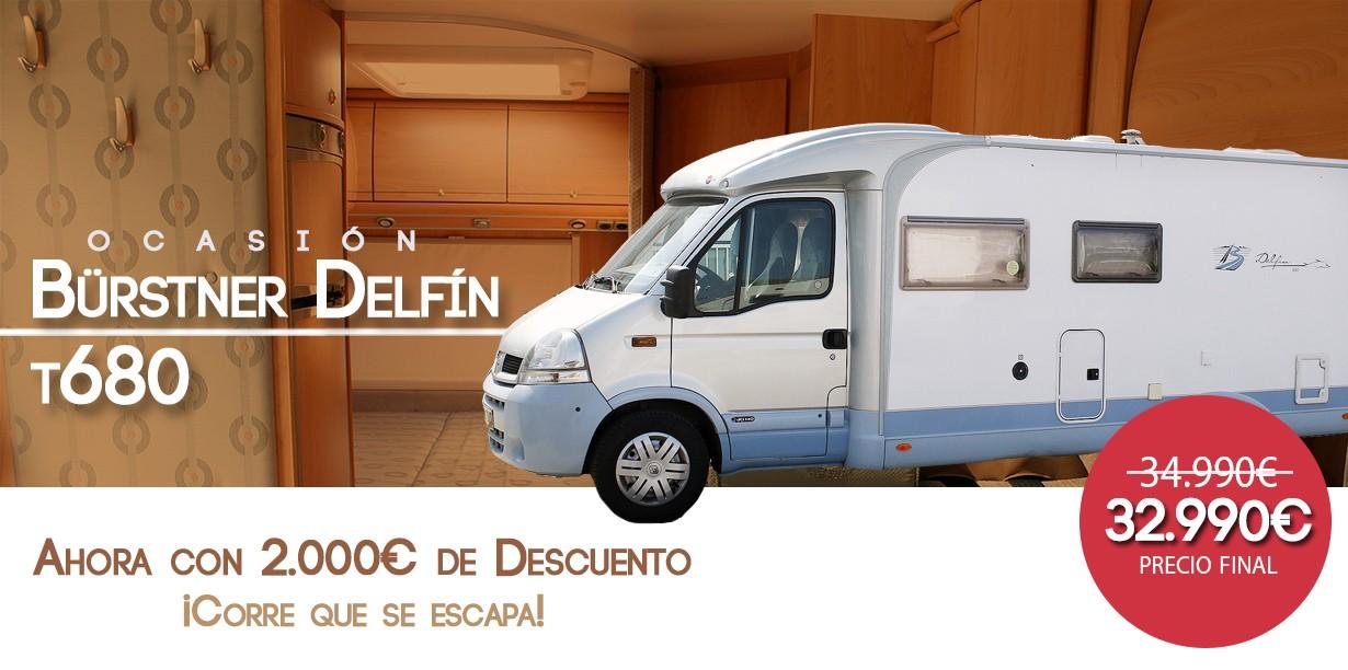 ¡REBAJAS! Autocaravana Bürstner Delfin T680 con 2.000€ menos